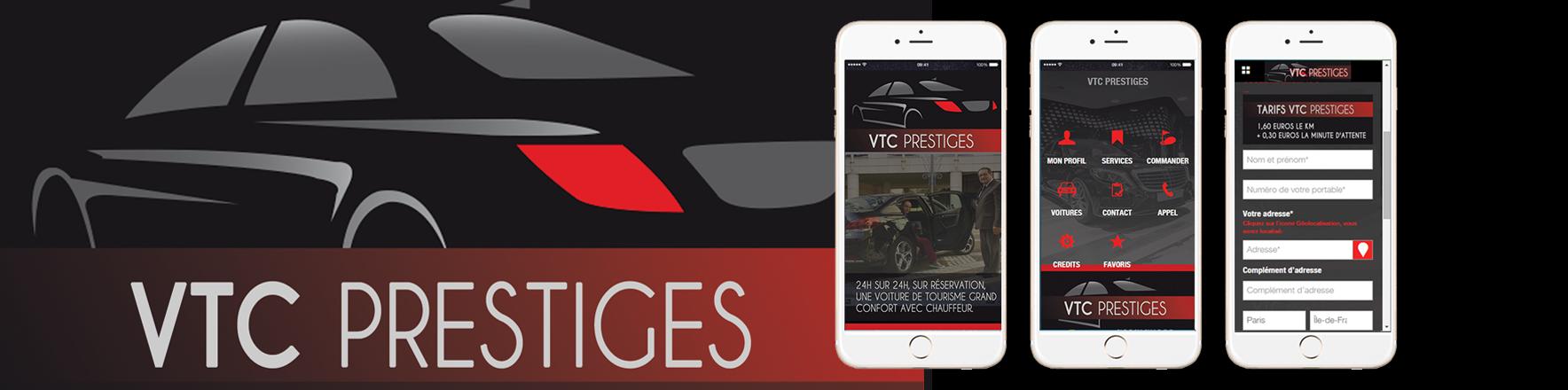 publication de l 39 application mobile vtc prestige commander une voiture par g olocalisation. Black Bedroom Furniture Sets. Home Design Ideas